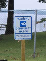 Community Watch Sign on Chowan