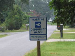 Community Watch Sign at Park